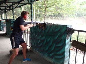 Danny at the shooting range